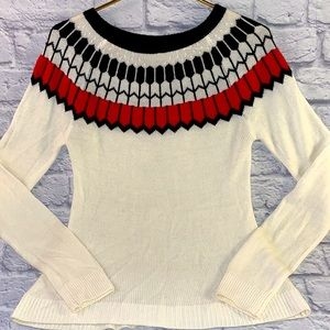 Limited Knit Feather Pattern Super Soft Sweater